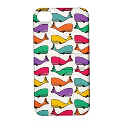 Small Rainbow Whales Apple iPhone 4/4S Hardshell Case with Stand