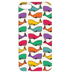 Small Rainbow Whales Apple iPhone 5 Hardshell Case with Stand