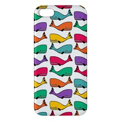 Small Rainbow Whales Apple iPhone 5 Premium Hardshell Case