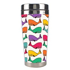 Small Rainbow Whales Stainless Steel Travel Tumblers