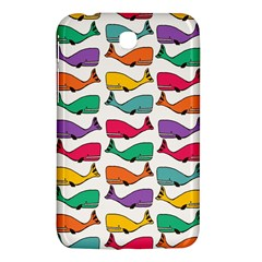 Small Rainbow Whales Samsung Galaxy Tab 3 (7 ) P3200 Hardshell Case