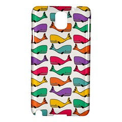 Small Rainbow Whales Samsung Galaxy Note 3 N9005 Hardshell Case