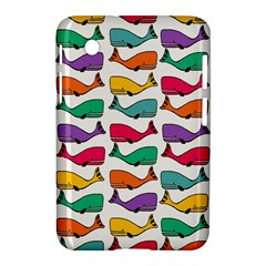 Small Rainbow Whales Samsung Galaxy Tab 2 (7 ) P3100 Hardshell Case