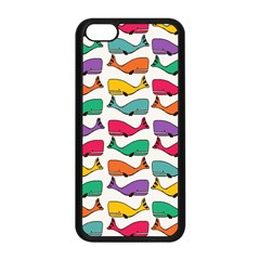 Small Rainbow Whales Apple iPhone 5C Seamless Case (Black)