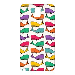 Small Rainbow Whales Samsung Galaxy Note 3 N9005 Hardshell Back Case