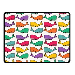 Small Rainbow Whales Double Sided Fleece Blanket (small)