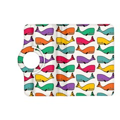 Small Rainbow Whales Kindle Fire HD (2013) Flip 360 Case