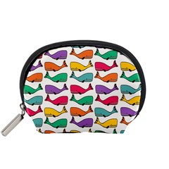 Small Rainbow Whales Accessory Pouches (Small)