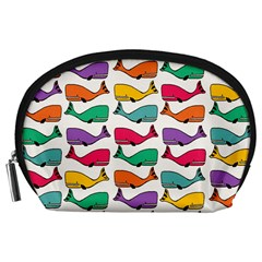 Small Rainbow Whales Accessory Pouches (Large)