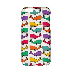 Small Rainbow Whales Apple iPhone 6/6S Hardshell Case