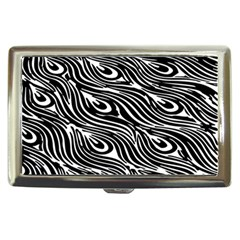 Digitally Created Peacock Feather Pattern In Black And White Cigarette Money Cases