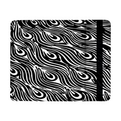Digitally Created Peacock Feather Pattern In Black And White Samsung Galaxy Tab Pro 8.4  Flip Case