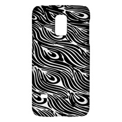 Digitally Created Peacock Feather Pattern In Black And White Galaxy S5 Mini