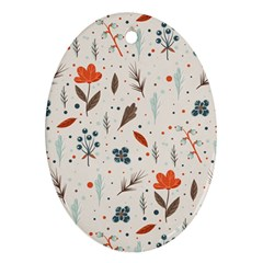 Seamless Floral Patterns  Ornament (Oval)