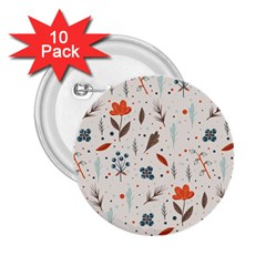 Seamless Floral Patterns  2.25  Buttons (10 pack)