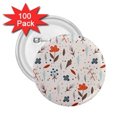 Seamless Floral Patterns  2.25  Buttons (100 pack)