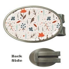 Seamless Floral Patterns  Money Clips (Oval)