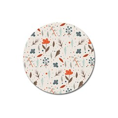 Seamless Floral Patterns  Magnet 3  (Round)
