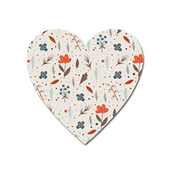 Seamless Floral Patterns  Heart Magnet