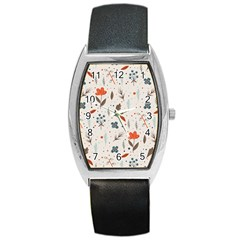 Seamless Floral Patterns  Barrel Style Metal Watch