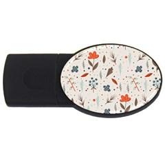 Seamless Floral Patterns  USB Flash Drive Oval (4 GB)