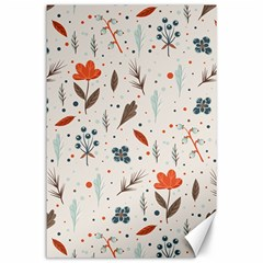 Seamless Floral Patterns  Canvas 24  x 36