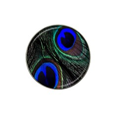 Peacock Feather Hat Clip Ball Marker (10 Pack)