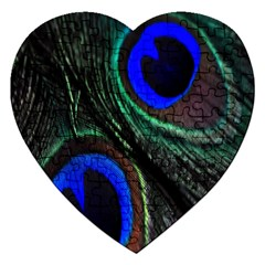 Peacock Feather Jigsaw Puzzle (Heart)