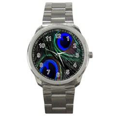 Peacock Feather Sport Metal Watch