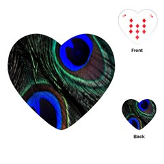 Peacock Feather Playing Cards (Heart)