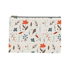 Seamless Floral Patterns  Cosmetic Bag (Large)