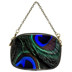 Peacock Feather Chain Purses (one Side)