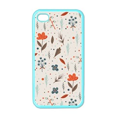 Seamless Floral Patterns  Apple iPhone 4 Case (Color)