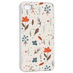 Seamless Floral Patterns  Apple iPhone 4/4s Seamless Case (White)