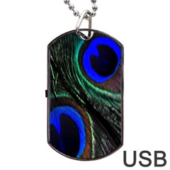 Peacock Feather Dog Tag USB Flash (Two Sides)