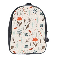 Seamless Floral Patterns  School Bags (XL)