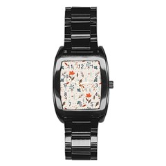 Seamless Floral Patterns  Stainless Steel Barrel Watch