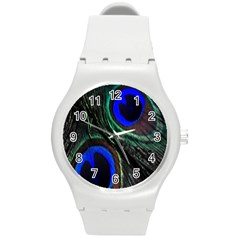 Peacock Feather Round Plastic Sport Watch (M)