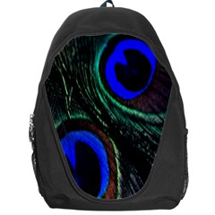 Peacock Feather Backpack Bag