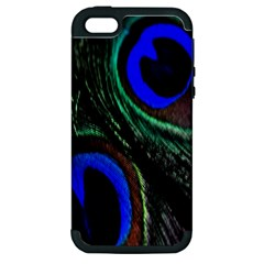 Peacock Feather Apple iPhone 5 Hardshell Case (PC+Silicone)