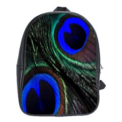 Peacock Feather School Bags (XL)