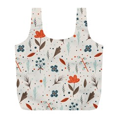 Seamless Floral Patterns  Full Print Recycle Bags (L)