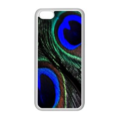 Peacock Feather Apple iPhone 5C Seamless Case (White)