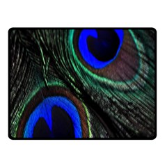 Peacock Feather Double Sided Fleece Blanket (Small)