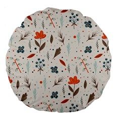 Seamless Floral Patterns  Large 18  Premium Flano Round Cushions