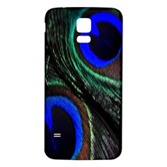 Peacock Feather Samsung Galaxy S5 Back Case (White)