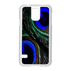 Peacock Feather Samsung Galaxy S5 Case (White)