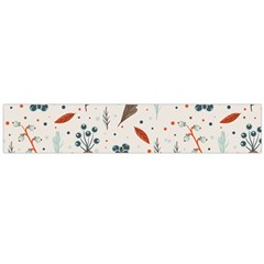 Seamless Floral Patterns  Flano Scarf (Large)