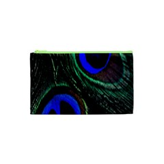 Peacock Feather Cosmetic Bag (xs)