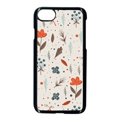Seamless Floral Patterns  Apple Iphone 7 Seamless Case (black)